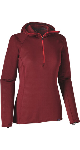 Patagonia W's Capilene Thermal Weight Zip Neck Hoody Drumfire Red